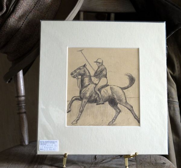 Large Polo Player - Side on - KF Barker - Polo B1